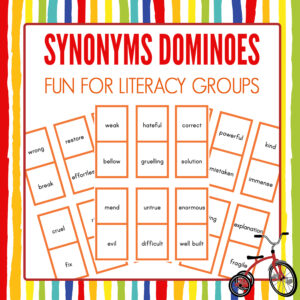 Synonyms Dominoes Game Printable
