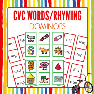 Rhyming Dominoes with CVC Words