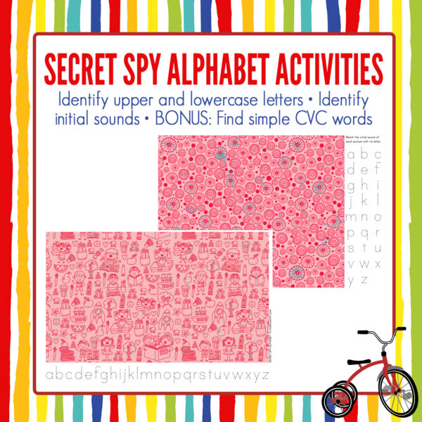 Alphabet Secret Spy Activities
