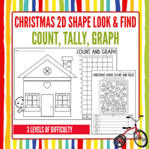 Christmas Math Activity Pack: Counting, Graphing, Shapes
