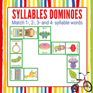 Syllables Dominoes Game