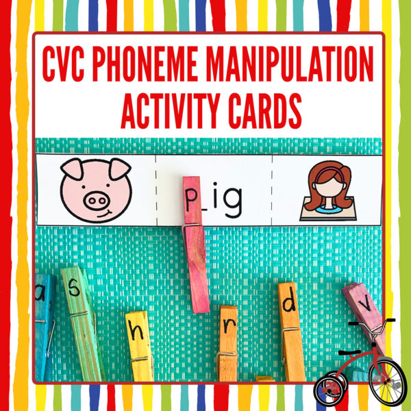 Phoneme Manipulation Cards with CVC words