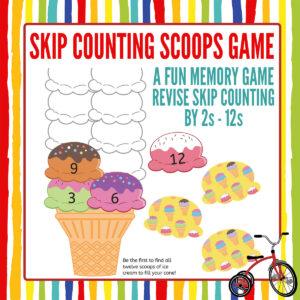 Skip Counting Memory Game